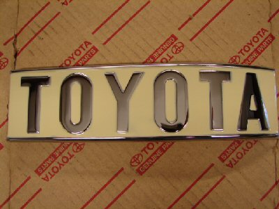 Badge- rear TOYOTA, 1/4 panel, RH, FJ40